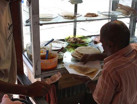 mauritius roti street stall