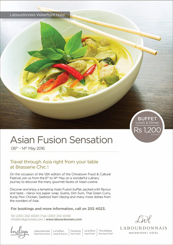 Asian fusion sensation mauritius restaurants for Asian fusion cuisine restaurants