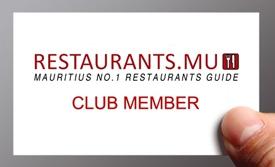 Restaurant club card, Restaurants.mu card