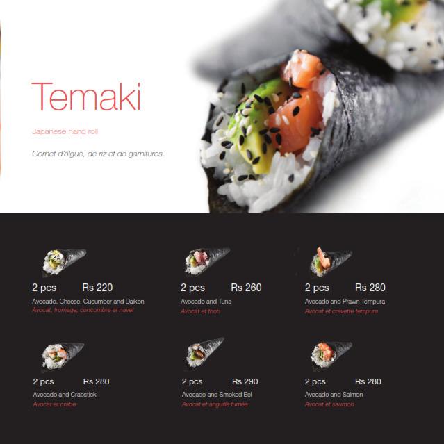 SushiMe - Sushi Bar Menu